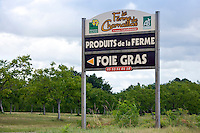 Farm Charnaillas, La Ferme de Charnaillas, in the Dordogne offering foie gras and produits de la ferme, France