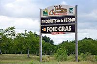Farm Charnaillas, La Ferme de Charnaillas, in the Dordogne offering foie gras and produits de la ferme, France