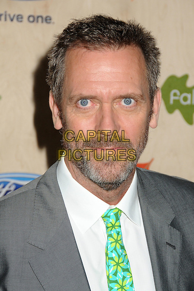 Hugh Laurie.7th Annual Fox Fall Eco-Casino Party held at The Bookbindery, Culver City, California, USA..September 12th, 2011.headshot portrait beard facial hair grey gray suit white shirt green tie  .CAP/ADM/BP.©Byron Purvis/AdMedia/Capital Pictures.