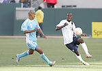 7 June 2007: The United States DaMarcus Beasley (r) is defended by Guatemala's Leonel Noriega (2). The United States Men's National Team defeated the National Team of Guatemala 1-0 at the Home Depot Center in Carson, California in a first round game in the CONCACAF Gold Cup.