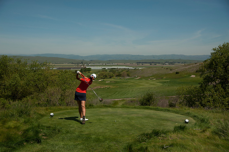 April 18, 2012; Hollister, CA, USA; Pepperdine Waves golfer Somin Lee during the WCC Golf Championships at San Juan Oaks Golf Club.