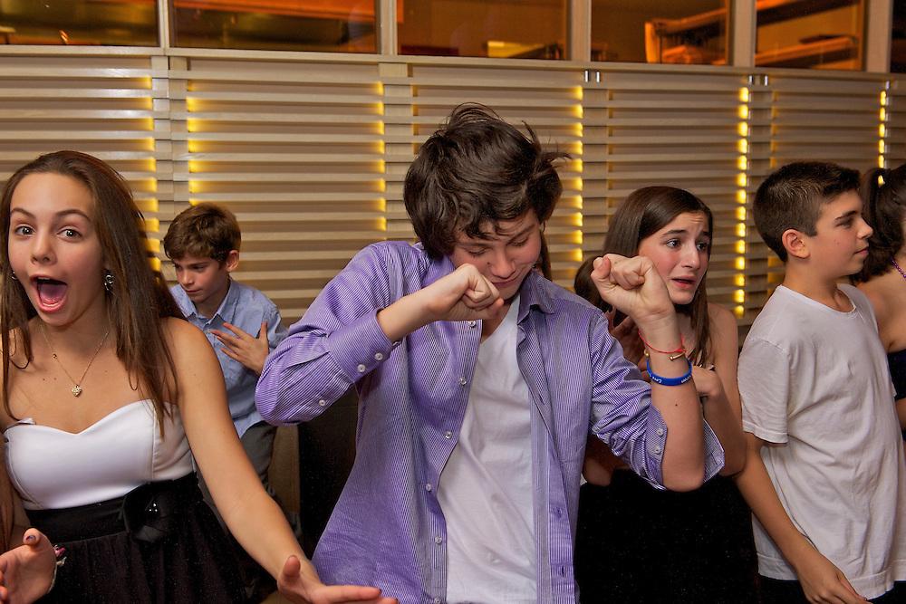Kids dancing at a Bar Mitzvah