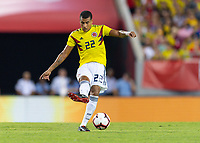 Tampa, FL - Thursday, October 11, 2018: Jeison Murillo during a USMNT match against Colombia.  Colombia defeated the USMNT 4-2.