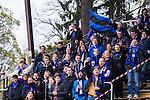 Uppsala 2014-05-07 Fotboll Superettan IK Sirius - &Ouml;stersunds FK :  <br /> Sirius supportrar med en flagga<br /> (Foto: Kenta J&ouml;nsson) Nyckelord:  Superettan Sirius IKS &Ouml;stersund &Ouml;FK supporter fans publik supporters