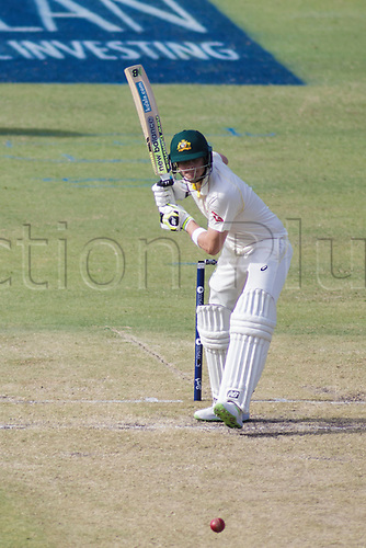 15th December 2017, The WACA, Perth, Australia; The Ashes Series, third test, day 2,  Australia versus England; Australia player Steve Smith prepares a shot