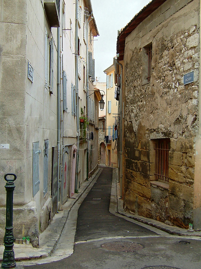 Old section of Aix-en-Provence, France, in the south of France.