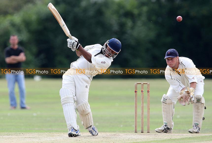 B Kulasena in batting action for Gidea Park - Gidea Park & Romford CC vs Upminster CC - Essex Cricket League - 15/08/09 - MANDATORY CREDIT: Gavin Ellis/TGSPHOTO - Self billing applies where appropriate - Tel: 0845 094 6026