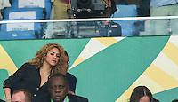 RIO DE JANEIRO, 30.06.2013 - COPA DAS CONFEDERAÇÕES - FINAL - BRASIL X ESPANHA - A cantora colombiana Shakira, namorada do jogador espanhol Piqué é vista após a vitória do Brasil sobre a Espanha na final da Copa das Confederações Estádio do Maracanã, na zona norte do Rio de Janeiro, neste domingo, 30. (Foto: William Volcov / Brazil Photo Press).
