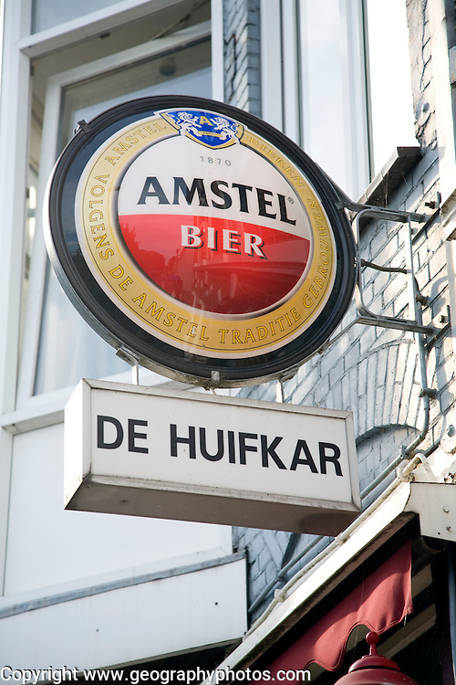 Amstel beer bar sign Haarlem Holland