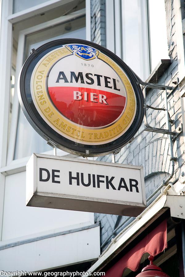 Amstel beer bar sign Haarlem Holland