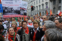 Milano, 25 Aprile 2015, Manifestazione per il 70&deg; anniversario della Liberazione dal nazifascismo. Susanna Camusso Segretario Generale della CGIL.<br /> Milan, April 25, 2015, Demonstration for the 70th anniversary of liberation from fascism. Secretary General of the CGIL Susanna Camusso.
