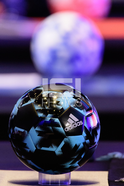 Philadelphia, PA - Friday January 19, 2018: adidas soccer ball during the 2018 MLS SuperDraft at the Pennsylvania Convention Center.