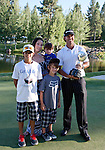 August 7, 2011:  Tournament champion Scott Piercy with his family after winning the Reno-Tahoe Open at Montrêux.