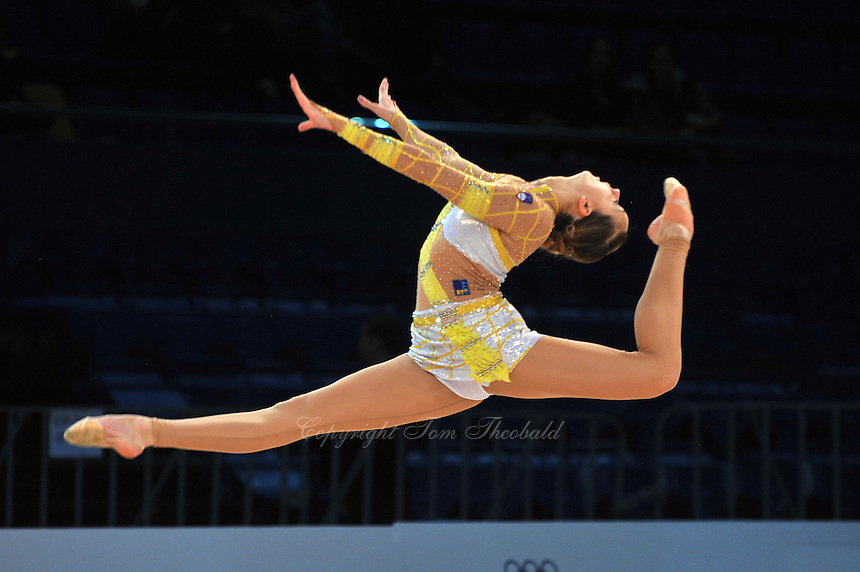 "TJASA SEME of Slovenia performs at 2011 World Cup Kiev, ""Deriugina Cup"" in Kiev, Ukraine on May 06, 2011."