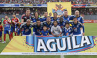 PASTO -COLOMBIA, 12-07-2015: Jugadores de Millonarios posan para una foto previo al encuentro entre Deportivo Pasto y Millonarios por la primera fecha de la Liga Águila II 2015 jugado en el estadio La Libertad de la ciudad de Pasto./ Players of Millonarios pose to a photo prior the match between Deportivo Pasto and Millonarios for the first date of the Aguila League II 2015 played at La Libertad stadium in Pasto city. Photo: VizzorImage / Gabriel Aponte / Staff
