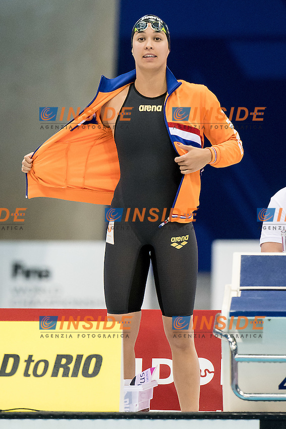 KROMOWIDJOJO Ranomi NED<br /> 100 freestyle women<br /> London, Queen Elizabeth II Olympic Park Pool <br /> LEN 2016 European Aquatics Elite Championships <br /> Swimming day 02 finals<br /> Day 09 17-05-2016<br /> Photo Giorgio Scala/Deepbluemedia/Insidefoto