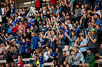 Seattle, WA - Wednesday, June 28, 2017: Seattle Reign FC fans during a regular season National Women's Soccer League (NWSL) match between the Seattle Reign FC and the Chicago Red Stars at Memorial Stadium.