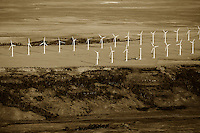 aerial photograph wind farm southeastern Wyoming