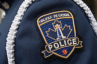 Halifax Regional Police badge is seen during a police memorial parade in Ottawa Sunday September 26, 2010.