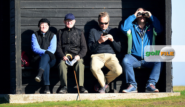 Spectators look on during Round 2 of the 2015 Alfred Dunhill Links Championship at the Old Course, St Andrews, in Fife, Scotland on 2/10/15.<br /> Picture: Richard Martin-Roberts | Golffile