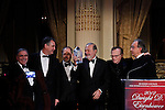 Peter F Tichansky,  President & Chief Executive Officer Business Council For International Understanding , Carlos Slim Helu, Larry King y Sergio Marchionne During the Dwight D. Eisenhower global leadership award in New York, United States. 12/12/2012. Photo by Kena Betancur/VIEWpress.