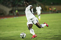 Ghana's Emanuel Agyemang-Badu (8) take the ball toward the South Korean Goal during the FIFA Under 20 World Cup Quarter-final match between Ghana and South Korea at the Mubarak Stadium  in Suez, Egypt, on October 09, 2009.
