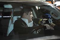 GUARULHOS , SP, 14 MARÇO 2013 - JULGAMENTO MIZAEL BISPO - Marcio Irmao de Mercia chega para o quarto dia de julgamento, no Fórum de Guarulhos, pelo assassinato da advogada Mércia Nakashima em maio de 2010. De acordo com acusação do Ministério Público, Mizael matou Mércia por ciúmes, porque ela não queria reatar o romance com ele. Ainda segundo a Promotoria, o vigilante Evandro ajudou Mizael na fuga. A vitima foi abordada em Guarulhos, mas morta em Nazaré Paulista, interior de SP. Os réus negam a autoria do crime.(FOTO: ADRIANO LIMA / BRAZIL PHOTO PRESS).