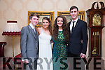 Enjoying the Mercy Mounthawk Debs at Ballyroe Heights Hotel on Tuesday were Kevin Foley, Sarah Quigley, <br /> Meadhbh Lyons and Luke Ryan