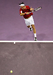 Chile's Nicolas Massou during his Madrid Masters Series tennis tournament match against Switzerland's Roger Federer at Madrid Arena, Tuesday 17 October, 2006. (ALTERPHOTOS/Alvaro Hernandez).
