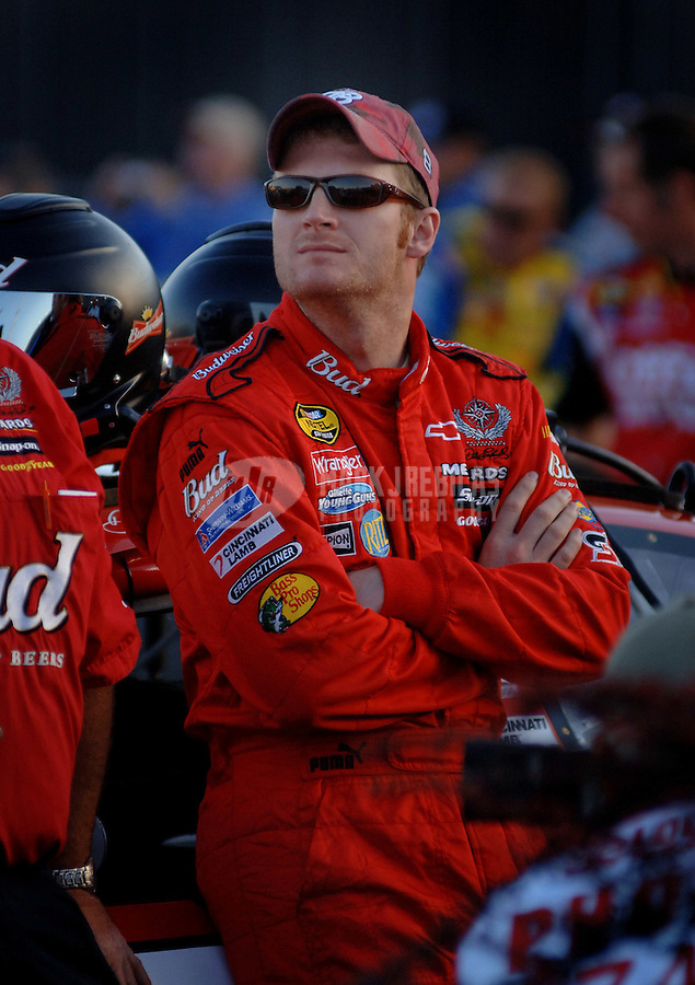 May 19, 2006; Charlotte, NC, USA; Nascar Nextel Cup driver Dale Earnhardt Jr (8) during qualifying for the Nextel All Star Challenge at Lowes Motor Speedway. Mandatory Credit: Mark J. Rebilas..