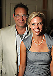 Courtney and Doug Abernethy at a reception for Chicks with Guns author Lindsay McCrum at the home of Lynn and Oscar Wyatt Tuesday Sept. 20,2011.(Dave Rossman/For the Chronicle)