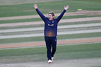 Adam Zampa of Essex celebrates taking the wicket of Dylan Blignaut during Essex Eagles vs Premier Leagues XI, Friendly Match Cricket at The Cloudfm County Ground on 2nd July 2018