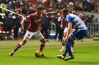 Jamie Patterson of Bristol City on the attack during the Sky Bet Championship match between Bristol City and Reading at Ashton Gate, Bristol, England on 26 December 2017. Photo by Paul Paxford.