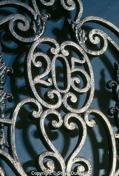 Iron detail, Commonwealth Avenue, Boston, MA