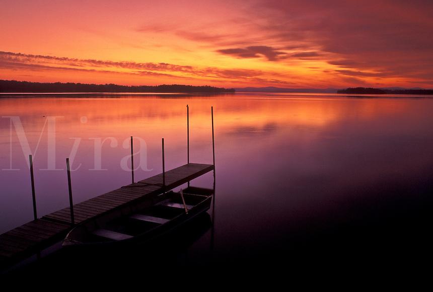sunrise, Vermont, VT, South Hero, [Sunrise, sunset] on Keeler Bay on Lake Champlain.