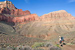 Arizona, Grand Canyon, Grand Canyon National Park, Tonto Trail, below the South Rim, Hermit - Bright Angel Loop Trail, Southwest, U.S.A., Gary Parker,