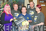 Ellen Leen, Joe McCarthy, Robert Roome and Samantha O'Sullivan pictured with Tom O'Shea, Tatler Jack, after they raised 3,000 for the Irish Cancer Society with their recent Shave or Dye night in the Killarney pub. ....