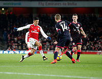 Alexis Sanchez of Arsenal in action during the Premier League match between Arsenal and Huddersfield Town at the Emirates Stadium, London, England on 29 November 2017. Photo by Carlton Myrie / PRiME Media Images.
