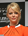 Emma Stone, Jun 13, 2012 : Tokyo, Japan - Emma Stone attends a news conference in Tokyo on Wednesday, June 13, 2012. The American film star was in town along with director Marc Webb, actors Andrew Garfield and Rhys Ifans to promote a June 23 world premiere of The Amazing Spider-Man.  (Photo by Natsuki Sakai/AFLO)