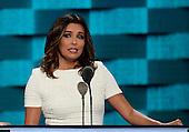Eva Longoria makes remarks at the 2016 Democratic National Convention at the Wells Fargo Center in Philadelphia, Pennsylvania on Monday, July 25, 2016.<br /> Credit: Ron Sachs / CNP<br /> (RESTRICTION: NO New York or New Jersey Newspapers or newspapers within a 75 mile radius of New York City)