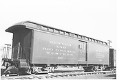 Baggage car #126 built by D&amp;RG as #27 in 1883.  Renumbered in September 1886.<br /> D&amp;RGW  Durango, CO  Taken by Hanft, Robert M. - 5/10/1951