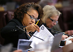 Nevada Assemblywoman Dina Neal, D-North Las Vegas, works in committee at the Legislative Building in Carson City, Nev., on Monday, Feb. 9, 2015. <br /> Photo by Cathleen Allison
