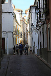 Narrow alleyways in historic  housing area, Cordoba, Spain