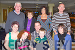 THE BIG 4 OH: Mike Scanlon, Lisselton enjoying a great time celebrating his 40th birthday with family and friends at the Kingdom Greyhound Stadium on Saturday l-r: Mags Scanlon, Aoife Scanlon, Mike Scanlon, Darragh Scanlon and Martina Fitzgerald. Back l-r: Michael Scanlon, Eileen Scanlon, Gerogina Scanlon and Anthony Fitzgerald.