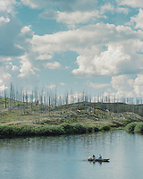 Trappers Lake, the headwaters of the White River, in the Flat Tops Wilderness of Colorado, Thursday, August 13, 2015.<br /> <br /> Photo by Matt Nager