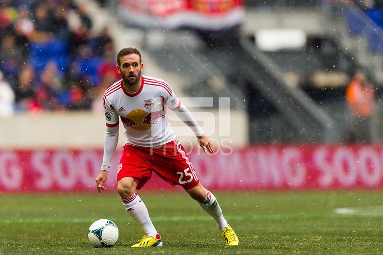 Brandon Barklage (25) of the New York Red Bulls. The New York Red Bulls and D. C. United played to a 0-0 tie during a Major League Soccer (MLS) match at Red Bull Arena in Harrison, NJ, on March 16, 2013.