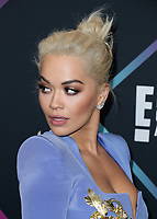 SANTA MONICA - NOVEMBER 11:  Rita Ora at the People's Choice Awards 2018 at The Barker Hangar on November 11, 2018 in Santa Monica, California. (Photo by Xavier Collin/PictureGroup)