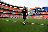 Cleveland, Ohio - Tuesday June 12, 2018: Becky Sauerbrunn during an international friendly match between the women's national teams of the United States (USA) and China PR (CHN) at FirstEnergy Stadium.