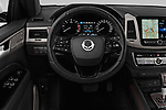 Car pictures of steering wheel view of a 2018 Ssangyong Rexton Sapphire 5 Door SUV