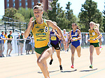 FARGO, ND - MAY 13: Amy Andrushko from North Dakota State University sprints to the finish line in the women's 800 meter run Saturday at the 2017 Summit League Outdoor Track Championship at the Ellig Sports Complex in Fargo, ND. (Photo by Dave Eggen/Inertia)